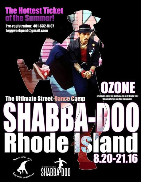 Shabba-Doo RI Dance Camp Flyer Aug 20-21 2016